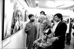 المصور البنغلاديشي الشهير غلام قاسم في معرض شبكة دريك، الصورة: عبير عبد الله