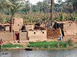 قرية على ضفة النيل، الصورة: أ ب