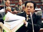 أيمن نور في البرلمان المصري في شهر مارس/آذار 2005، الصورة: د ب أ