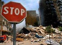 حي من أحياء بيروت في 31 تموز 2006، الصورة: أ ب