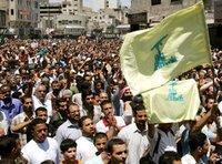 مظاهرة تأييد لحزب الله في العاصمة الأردنية في 21 تموز/يوليو 2006، الصورة: أ ب