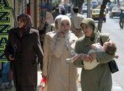نساء محجبات في شوارع دمشق، الصورة: د ب أ