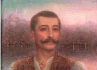 بيار لوتي في أسطنبول في لوحة للرسام لوسين ليفي-دورمر 1896، الصورة: معرض بيار لوتي