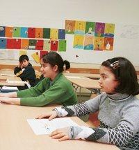 تلميذات مسلمات في مدرسة ألمانية، الصورة: إخلاص عباس