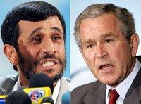 الرئيسان الأمريكي جورج بوش والإيراني أحمد نجاد، الصورة: أ ب
