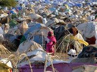 مخيم لاجئين من دارفور بالقرب من مدينة نيالا، الصورة: د ب أ