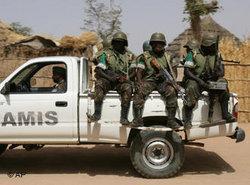جنود قوات الاتحاد الإفريقي في غرب دارفور، الصورة: أ ب