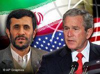 الرئيسان الأمريكي بوش والإيراني أحمدي نجاد، الصورة:أ.ب