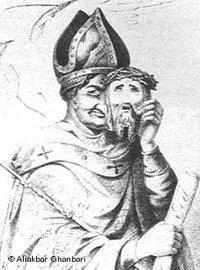 رسم كاريكاتوري هولندي عن الديانات يعود للعام 1852، الصورة: علي أكبر غنباري