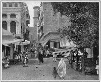 صورة قديمة لأحد شوارع مدينة بيشاور عام 1900، الصورة: ثيودور بينيل