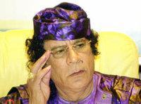 العقيد الليبي، القذافي، الصورة: أ.ب