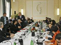 بعض المجتمعين في المؤتمر الإسلامي الألمان الثالث، الصورة: أ.ب