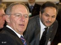 وزير الداخلية الاتحادي، فولفغانغ شويبله، الراعي للمؤتمر، الصورة: أ.ب