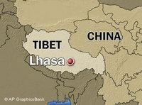 خريطة التبت، الصورة: أ.ب