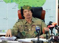 معمر القذافي، الصورة: د.ب.ا