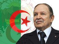 صورة رمزية للرئيس الحزائري بوتفليقه، الصورة: أ.ب
