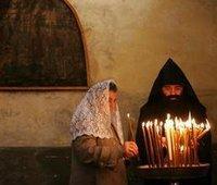 قس أرمني في بيت لحم، الصورة: أ.ب