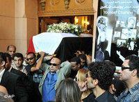 مشهد من جنازة شاهين، الصورة. ا.ب