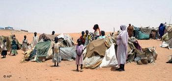 مشردو دارفور، الصورة: أ.ب