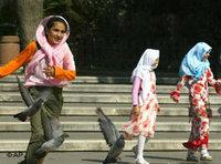 تركيات في احدى الحائق العامة في اسطنبول، الصورة: أ.ب