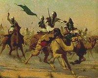 لوحة تعبيرية عن معركة أم درمان الشهيرة عام 1898 ، الصورة: فيكي ميديا كومونس