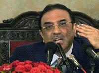 الرئيس الباكستاني  الجديد، زرداري