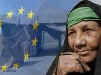 صورة رمزية: الاتحاد الأوروبي واللاجئون العراقيين، الصورة: أ.ب