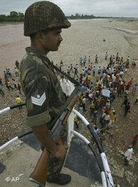 جندي هندي في منطقة كشمير، الصورة: أ.ب