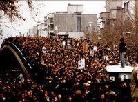 مظاهرات عارمة في طهران 1979، الصورة: ا.ب