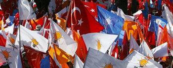 مظاهرات مؤيدة لحزب العدالة والتنمية