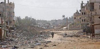 غزة بعد آثار الحرب، الصورة: ا.ب