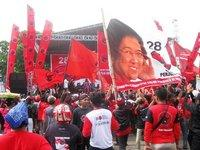المعركة الانتخابية على شكل مهرجان شعبي في يوجياكرتا، الصورة:  كريستينا شوتّ