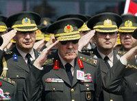 الجنرالات العسكريين الأتراك، الصورة: ا.ب