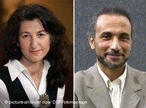Necla Kelek and Tariq Ramadan (photo: dpa/DW)