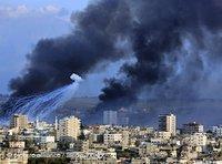 جانب من آثار الغارات الإسرائلية على قطاع غزة إبان الحرب الاخيرة، الصورة: ا.ب