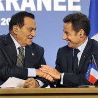 مبارك وساركوزي، الصورة: ا.ب