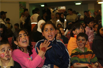 طلبة من ذوي الاحتياجات الخاصة في المركز، الصورة: مهند حامد