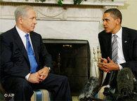 Benjamin Netanjahu and Barack Obama in the Oval Office (photo: AP)