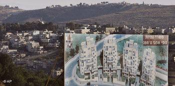 التوسع الاستيطاني الإسرائيلي في الأراضي الفلسطينية، الصورة: ا.ب