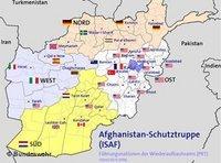 خارطة تبيت توزع القوات الألمانية في أفغانستان