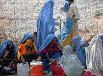 Female Afghan refugees in Peshawar, Pakistan (photo: AP)
