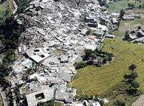 Earthquake site in North-West Pakistan October 2005 (photo: AP)
