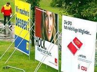 لوحات دعائية للانتخابات بلدية ألمانية، الصورة: ا.ب