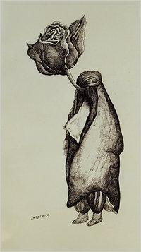 إحدى رسومات أردشير محصص الكاريكاتورية، الصورة: slowpainting.worldpress.com