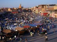 السوق الشعبي في مراكش، الصورة أ ب