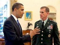أوباما وقائد قوات التحالف في أفغانستان، الجنرال كريستال، الصورة: د.ب.ا