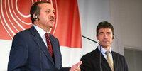 أردوغان وأمين حلف الأطلسي، الصورة: د.ب.ا