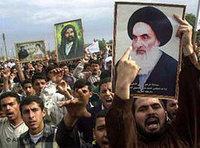 مظاهرة مؤيدة للسيستاني في البصرة: الصورة: أ.ب