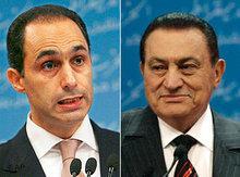 الرئيس المصري حسنى مبارك وابنه جمال، الصورة: دويتشه فيله وا.ب