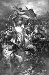 لوحة تمثل الحروب الصليبية، الصورة: د.ب.ا